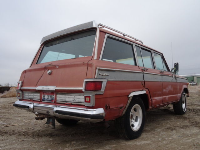 1977 Jeep Wagoneer Wagoneer Factory Z SUV with Red interior