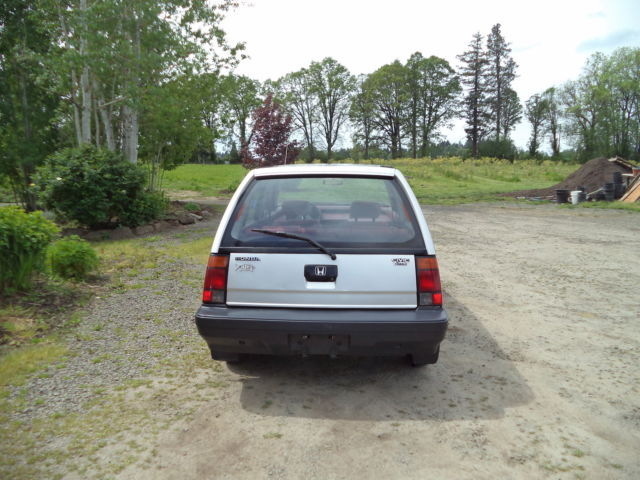 Rare 1985 Honda Civic Wagon 4wd Hatchbackelderly 1 Owner With 87k