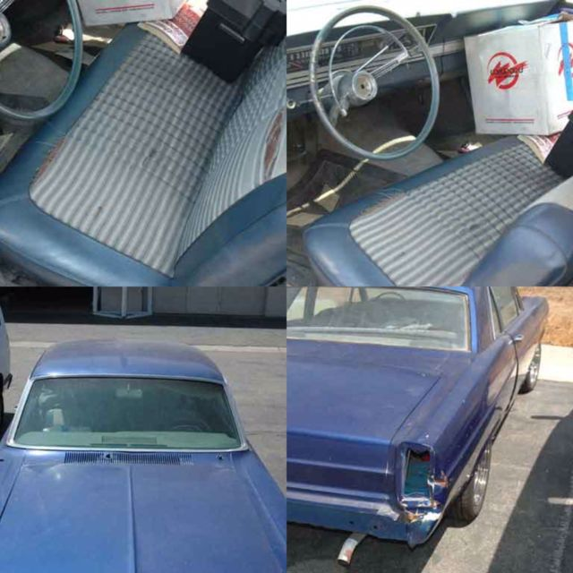 1966 Blue Ford Fairlane Coupe with Blue interior