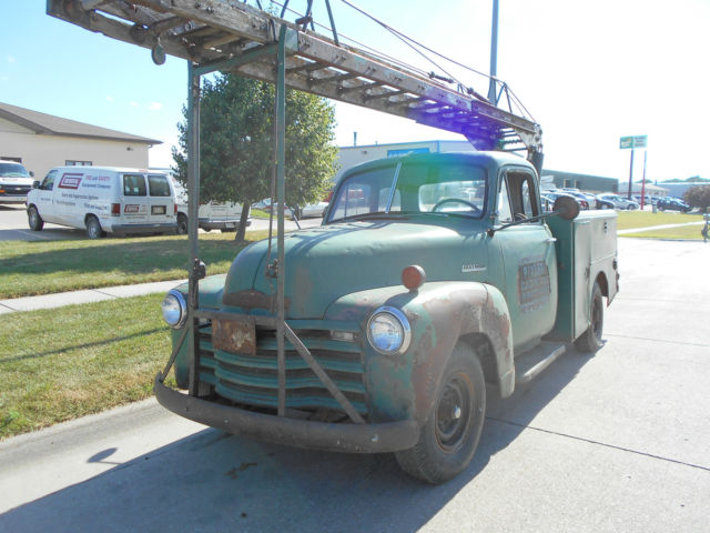 Rare Barn Find 1951 Chevrolet 3600 5 Window Service Truck
