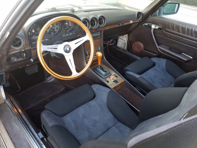 1983 GOLD Mercedes-Benz SL-Class Convertible with CHOCOLATE BROWN interior