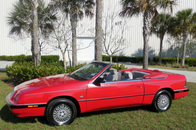 1991 Chrysler LeBaron 25,876 MILES!!!CERTIFIED CARFAX~NON SMOKER~NEW TOP