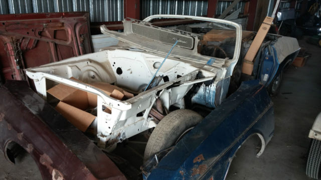 Rare E Body Mopar Convertible Project Car With Parts Car For Sale