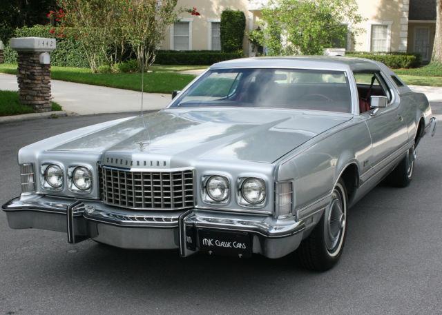 Rare Luxury Edition 1976 Ford Thunderbird Silver Luxury Edition