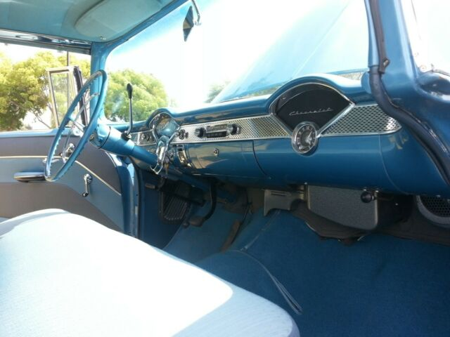 1955 Glacier blue / Shoreline beige Chevrolet Bel Air/150/210 Coupe with 2 tone blue interior