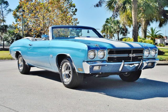 1970 Chevrolet Chevelle SS Convertible #s Matching 396 Fac A/C Build Sheet