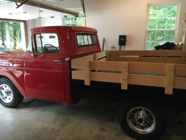 red 1960 ford f250 stake bed truck for sale photos technical specifications description. Black Bedroom Furniture Sets. Home Design Ideas