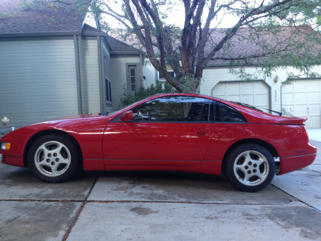 Red 300zx Twin Turbo 41k Miles 5 Speed Manual Leather Interior