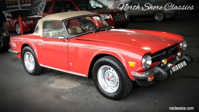1976 Triumph TR-6 -2.5 L 4-SPEED CONVERTIBLE - SEE VIDEO
