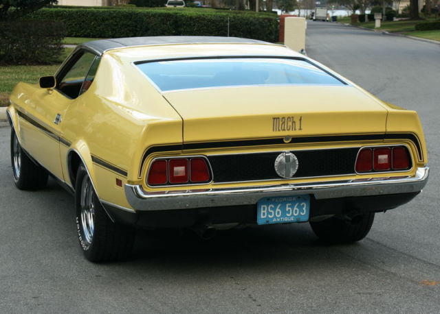1972 Ford Mustang MACH 1 351 Q CODE COBRA JET - A/C