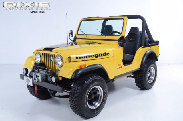 1977 Jeep CJ Renegade Levi Edition Restored V8 3 speed