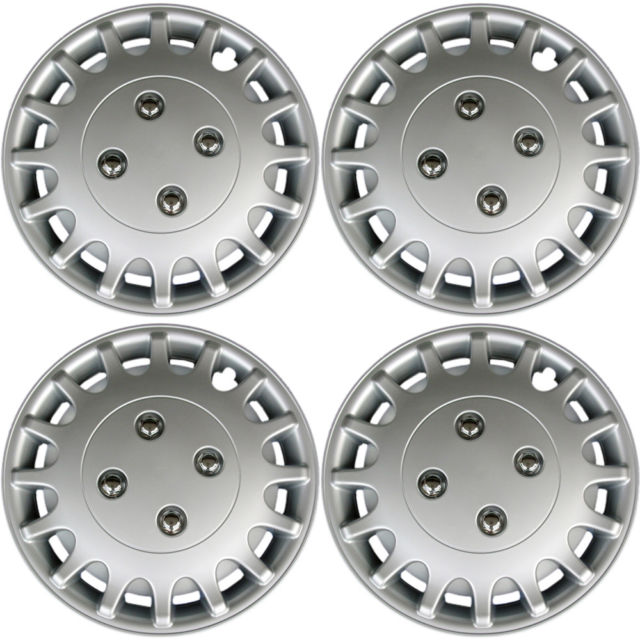 Hubcaps fits 89-91 Daihatsu Charade - 13 Inch Silver Replacement Wheel Cover Rim