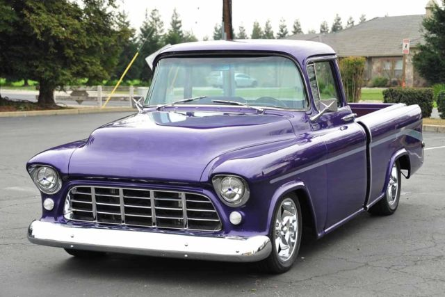 restomod 1955 chevy cameo pickup truck 383 700r camaro ps pdb ac tilt pw 56 57 for sale photos. Black Bedroom Furniture Sets. Home Design Ideas