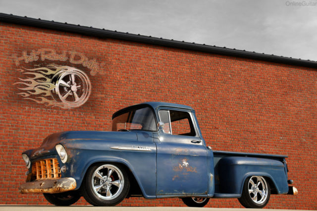 1956 Chevrolet C-10 Slammed Suspension 3100 Hot Rod Patina Shop Truck
