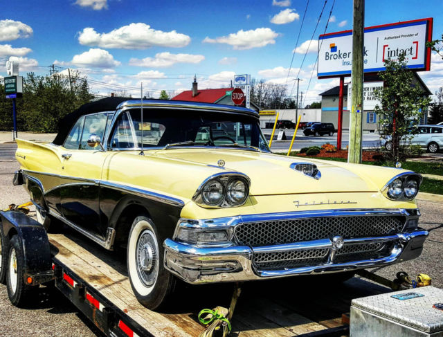 Restored 58 Ford Fairlane Sunliner Convertible EXTRA NICE