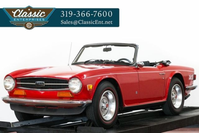 1973 Triumph TR6 convertible serviced and ready to drive today