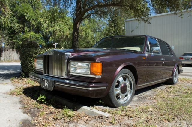 1984 Purple Rolls-Royce Silver Spirit/Spur/Dawn Silver Spur Sedan with Tan interior