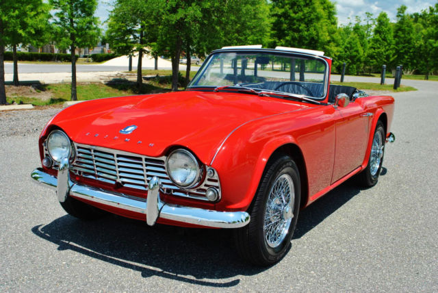1962 Triumph TR-4 Roadster tr4 best to be found convertible.