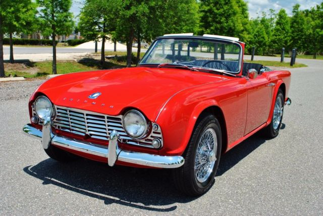 1962 Triumph TR4 Roadster Every Nut & Bolt Restored Immaculate Car