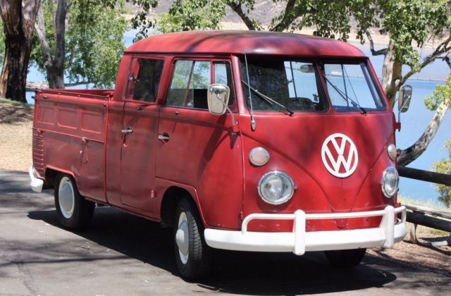 Ruby Red 1964 Vw Double Cab Daily Driver Truck For Sale