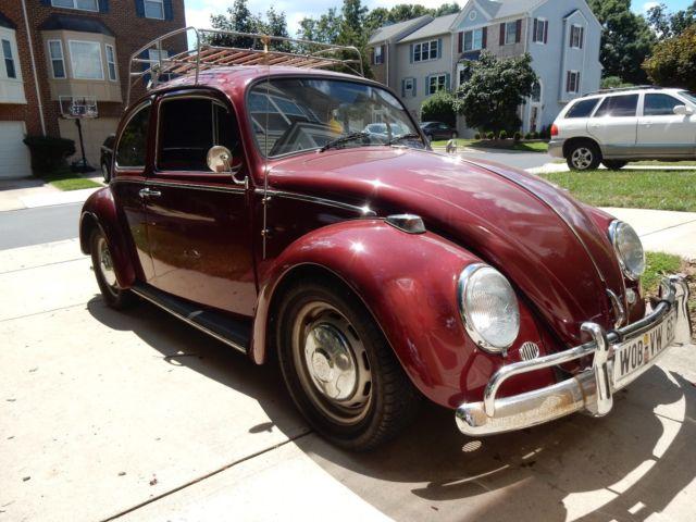 ruby red 1966 vw beetle bug for sale photos technical. Black Bedroom Furniture Sets. Home Design Ideas