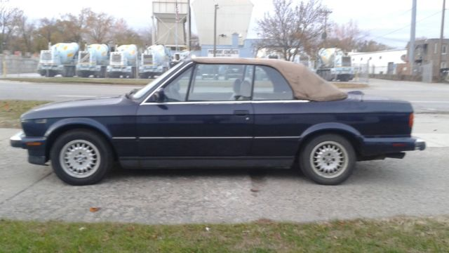 Running 1987 BMW 325i, 5 Speed Manual Convertible For Restoration