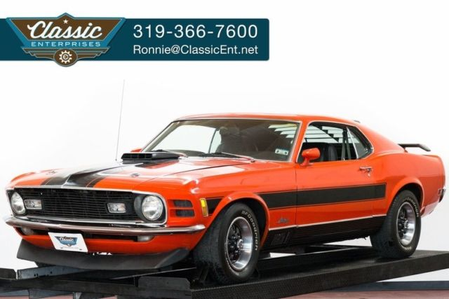 1970 Ford Mach 1 Mustang Marti Report solid Mustang restored correct car