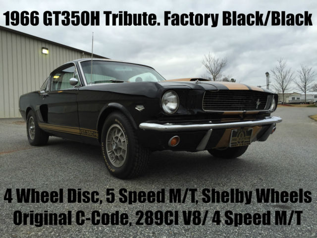 1966 Ford Mustang Original C-Code 289CI V8 4 Speed M/T