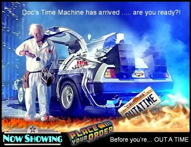 Ship us your Delorean we'll send you back aTime Machine