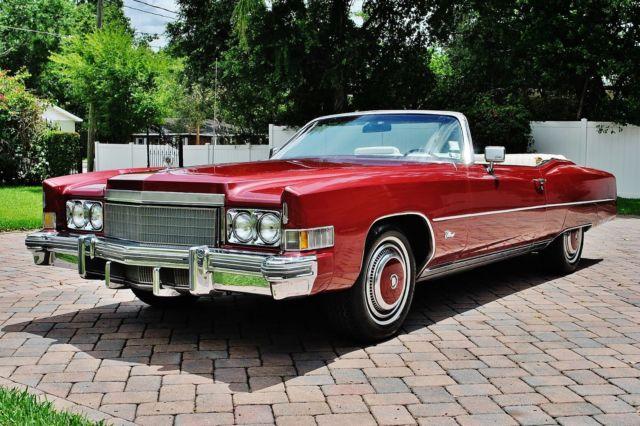 Simply amazing 74 Cadillac Eldorado convertible very rare paint