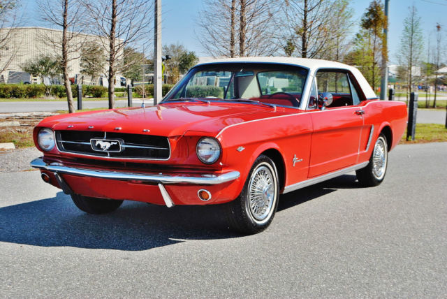 1965 Ford Mustang Rare A Code Coupe 225 HP Vintage Air Front Discs