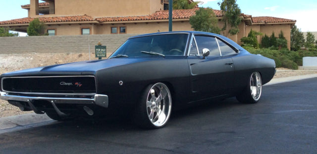 Stunning 1968 Dodge Charger R T 440 Restored Matte Black