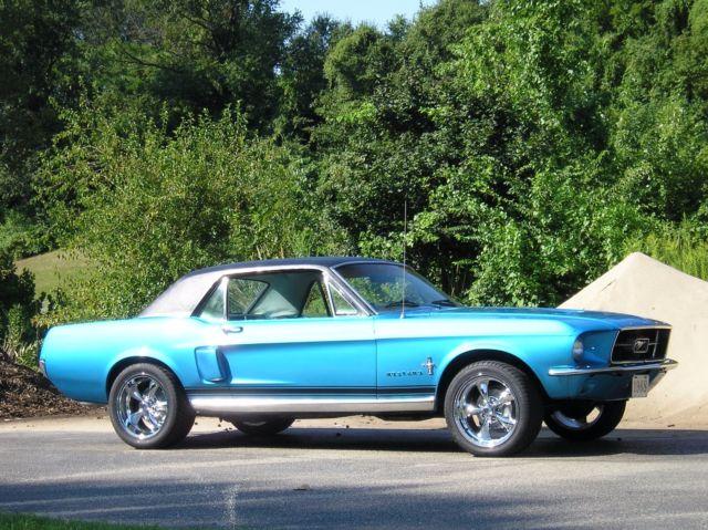 STUNNING BRILLIANT BLUE 1967 MUSTANG CUSTOM! TRIPLE CHROME MAGS! NEW