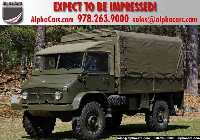 1969 Mercedes-Benz Unimog Swiss Army Troop Carrier