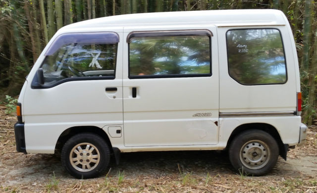 subaru sambar 4wd van mini truck low miles for sale. Black Bedroom Furniture Sets. Home Design Ideas