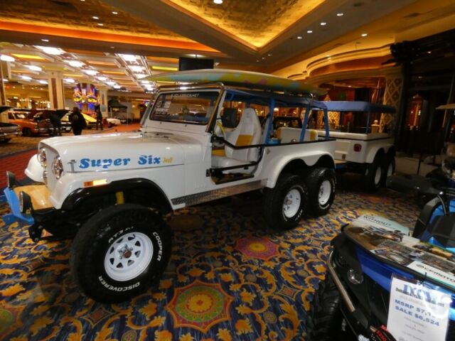 super 6 jeep wrangler cj custom trailer corona promotional party show jeep for sale photos. Black Bedroom Furniture Sets. Home Design Ideas