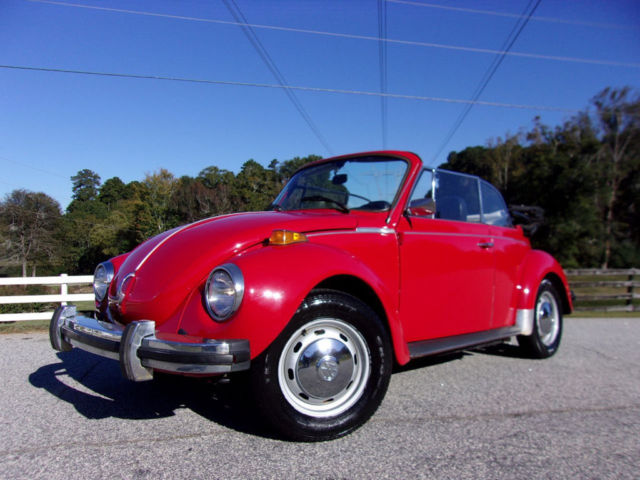 1978 Volkswagen Beetle-New SUPER BEETLE KARMANN CONVERTIBLE 4CYL FUEL INJECTE
