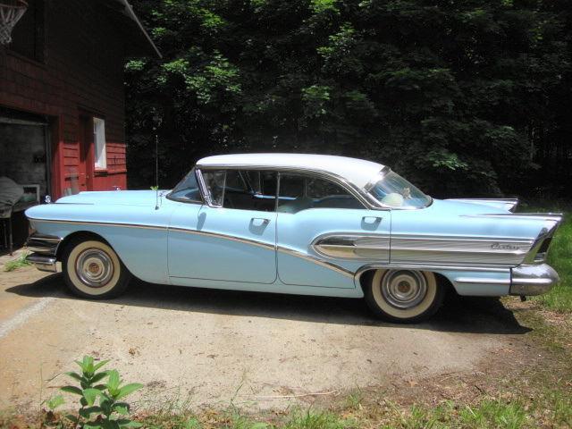 Survivor Car 1958 Buick Century 4 Door Baby Blue Original Paint Interior Engine For Sale