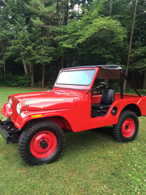 SWEET 1957 JEEP WILLYS CJ5 FIRE ENGINE RED for sale