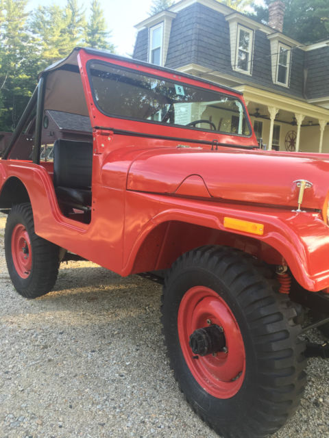 *SWEET *1957 JEEP WILLYS CJ5 FIRE ENGINE RED for sale ...