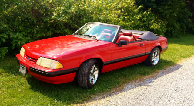 1990 Ford Mustang LX COUPE CONVERTIBLE 25TH YR ANNIVERSARY EDITION