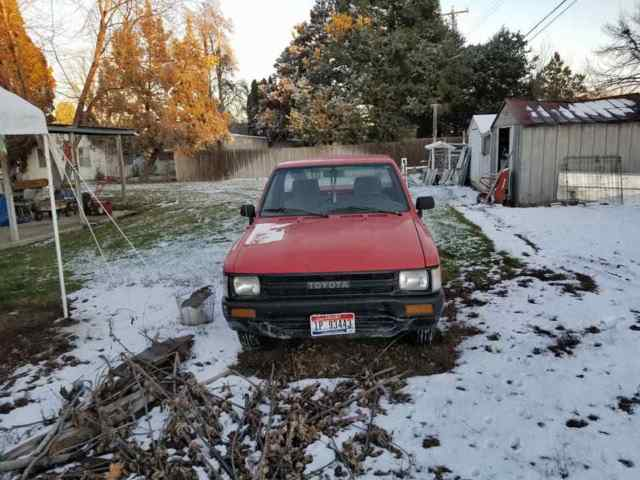 1989 Red Toyota Pickup Standard Cab Pickup with Gray interior