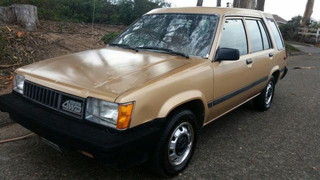 Toyota Tercel 4x4 Wagon 2 Owner Ca Born All Orig Not