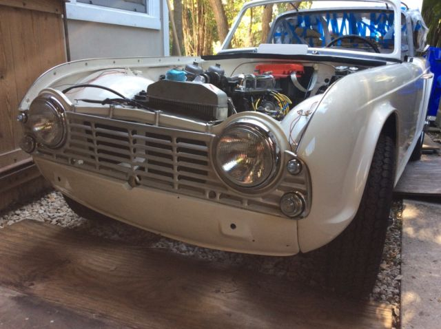 Triumph Tr4 1964 Surrey Top With Original Rear Glass And Aluminum
