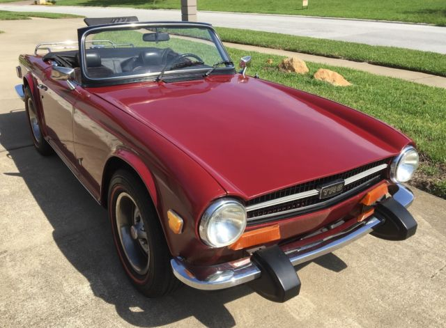 Triumph TR6 with 5 speed conversion for sale: photos