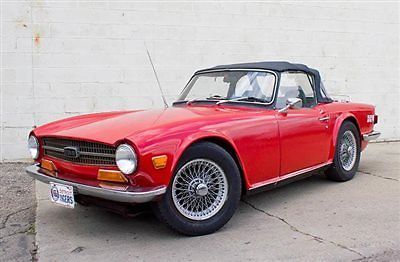 triumph tr6 with overdrive, wire wheels, barn find for sale