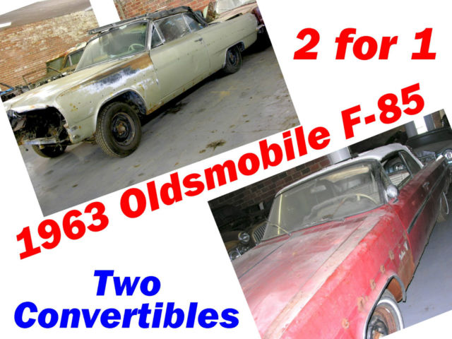 1963 Oldsmobile Cutlass Convertibles 2 for 1 (Two Cars!)