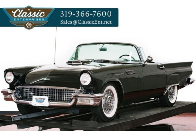 1957 Ford Thunderbird Roadster with hard and soft tops very straight car