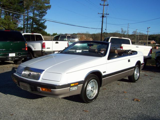1988 Chrysler LeBaron 1-OWNER 73K 1 OF THE BEST ON MARKET SEBRING SISTE