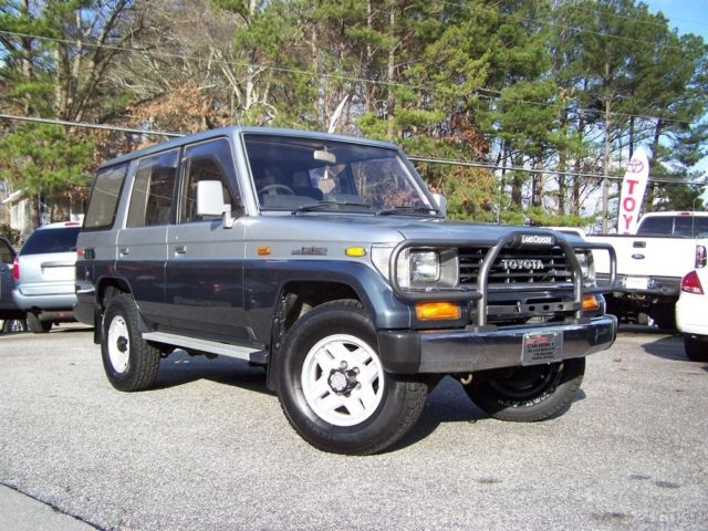 1990 Toyota Land Cruiser 1-OWNER 50K 4X4 TURBO DIESEL MOONROOF 3RD REAR SEAT 8 PASS
